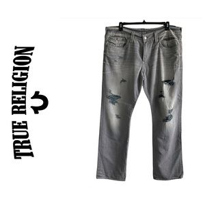 TR Ricky Flap Pocket Relaxed Straight Grey Jeans